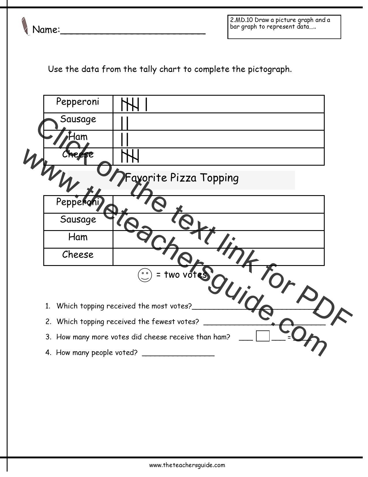 Pictograph Worksheets 2nd Grade Pictograph Worksheets for 3rd Graders