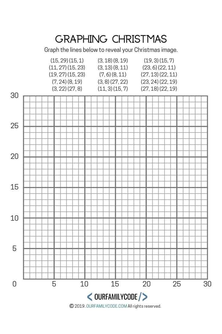 Plotting ordered Pairs Worksheet Graphing Christmas Coordinates Math Art Activity