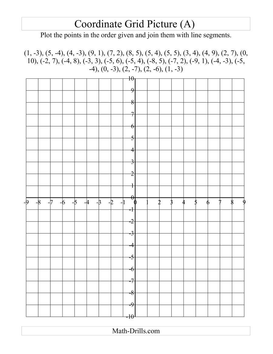 Plotting ordered Pairs Worksheets Plotting Coordinate Points Art Red Maple Leaf A
