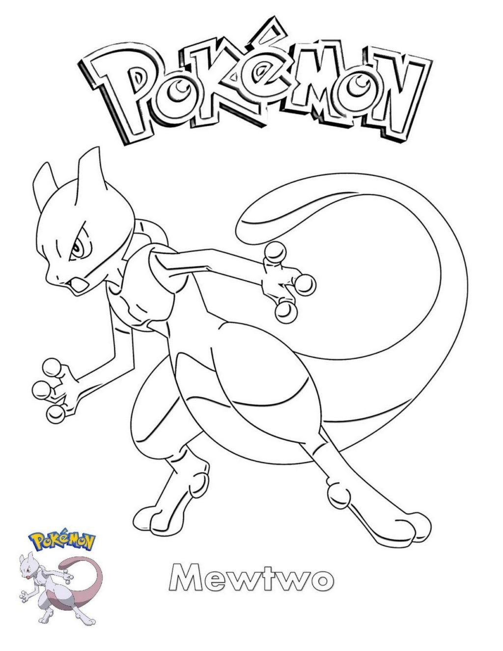 worksheet coloring pages mewtwo printable free pokemon sheets incrediblen legendary 1024x1326