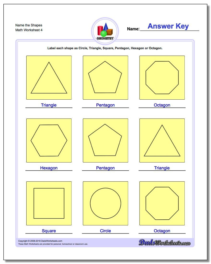 Polygon Worksheets 5th Grade Basic Shapes