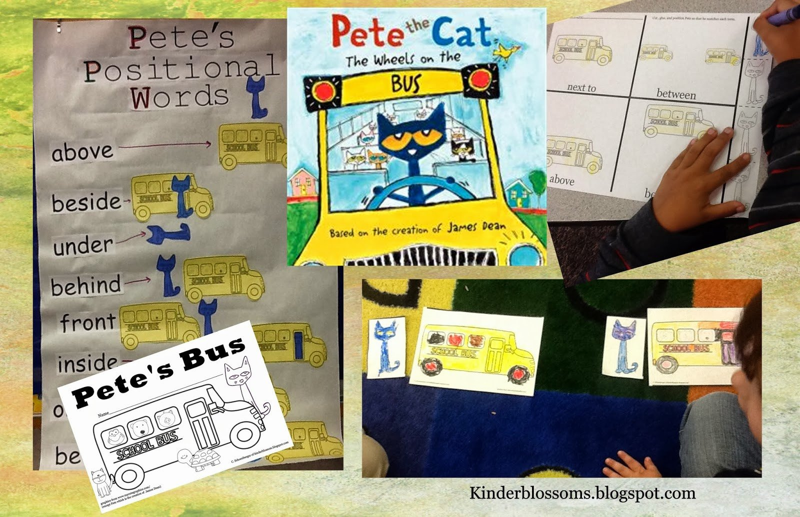 Positional Words Worksheets for Preschool Christina S Kinder Blossoms Positional Words with Pete the