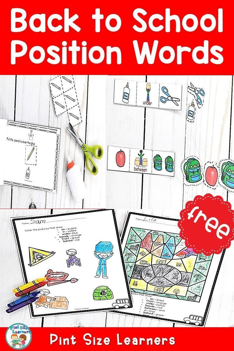 Positional Words Worksheets Position Words Activities and Worksheets