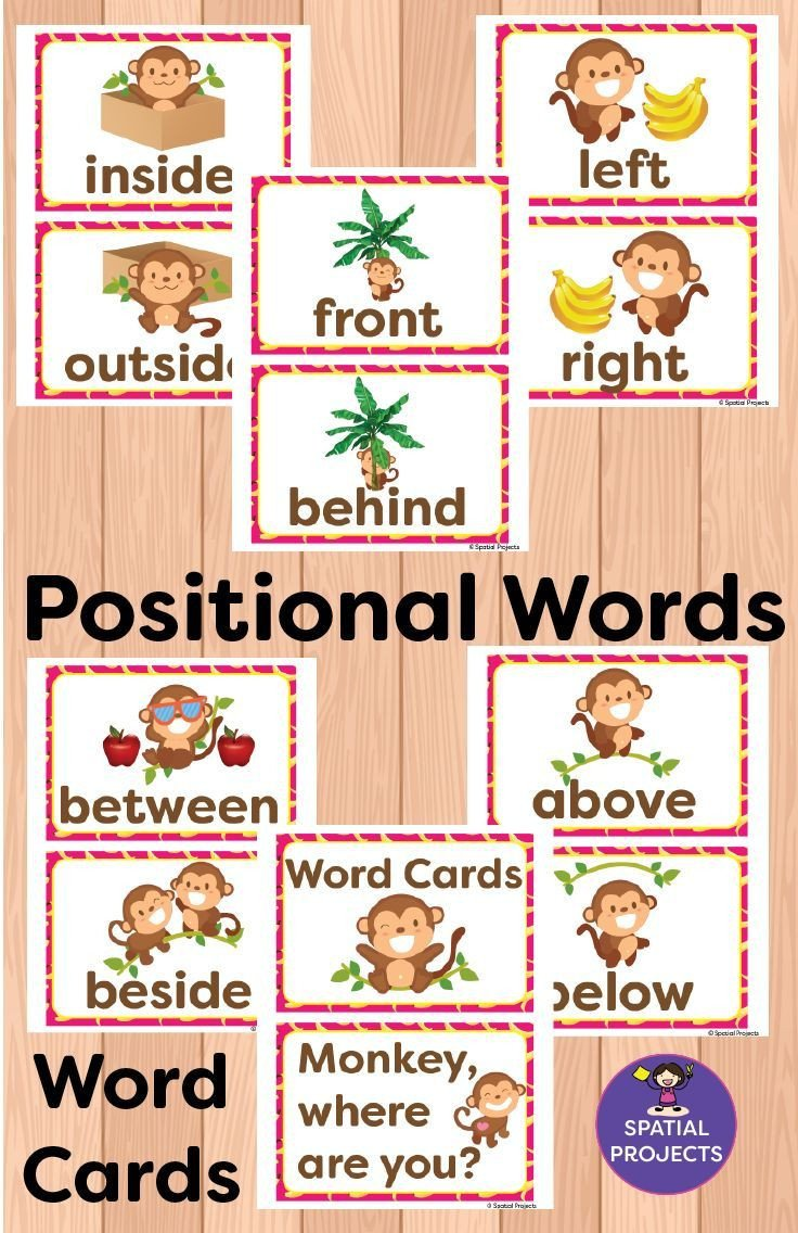Positional Words Worksheets Positional Words Activities and Worksheets