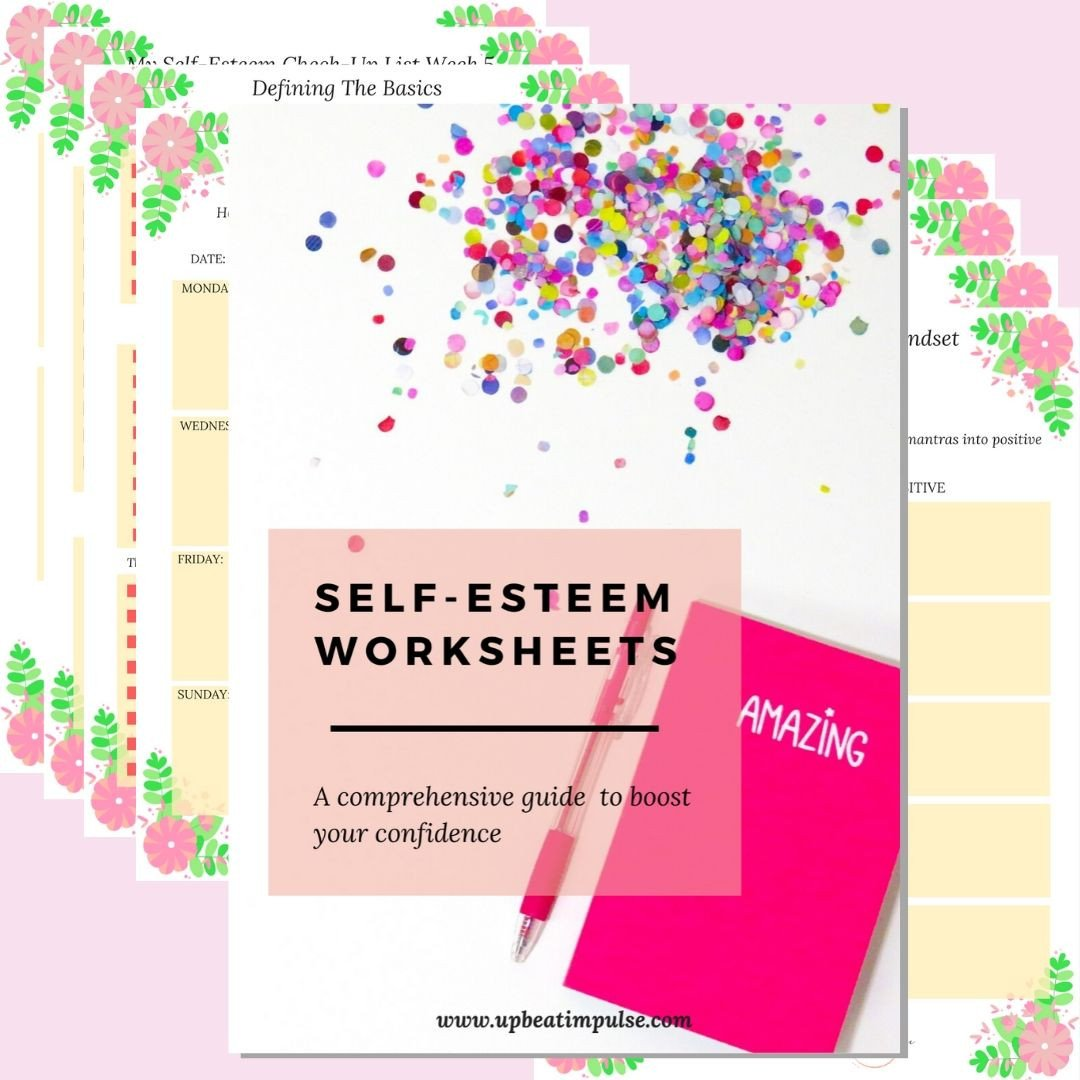 Positive Self Esteem Worksheets Self Esteem Workbook Pdf