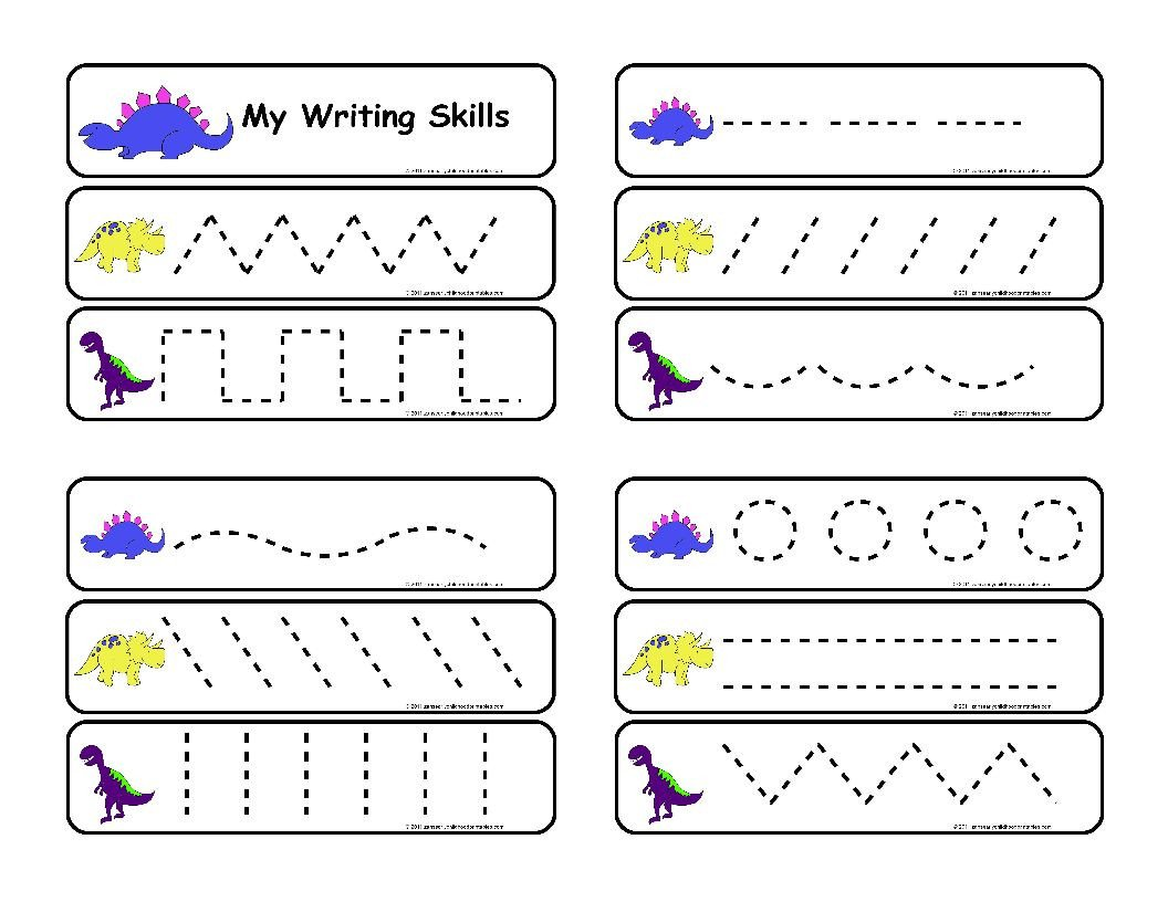 post pre writing skills printable worksheet