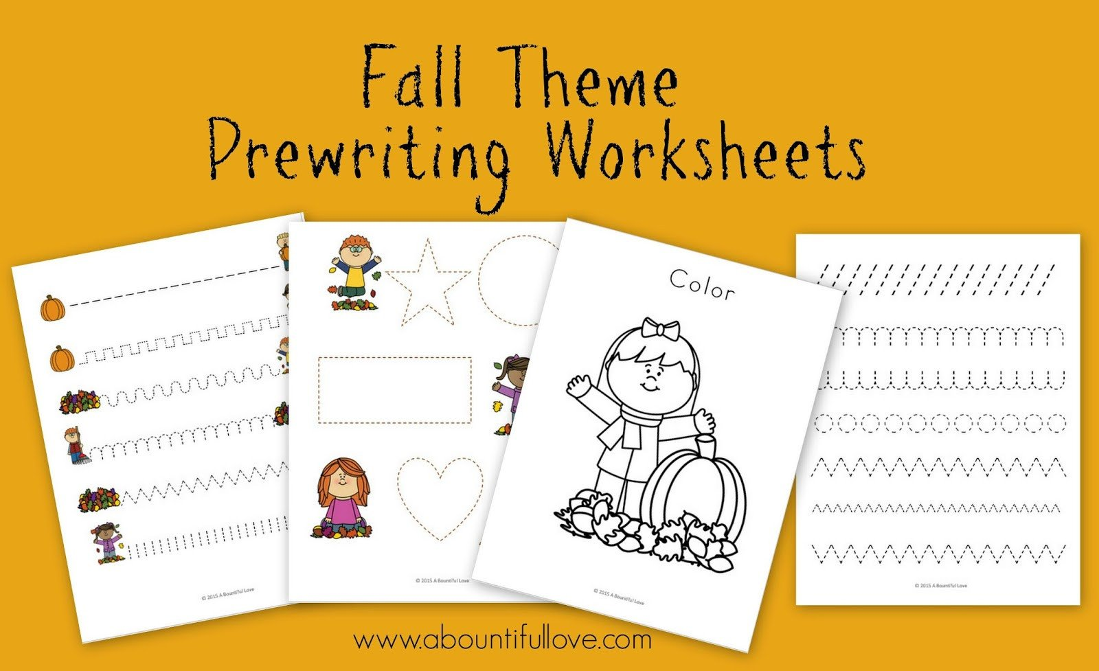 Prewritinf Worksheets