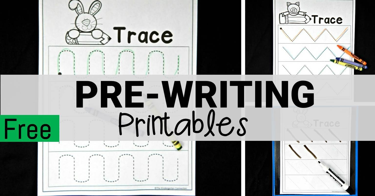 Free Pre Writing Worksheets The Kindergarten Connection