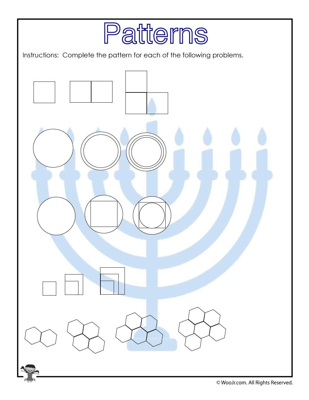 visual patterns worksheet