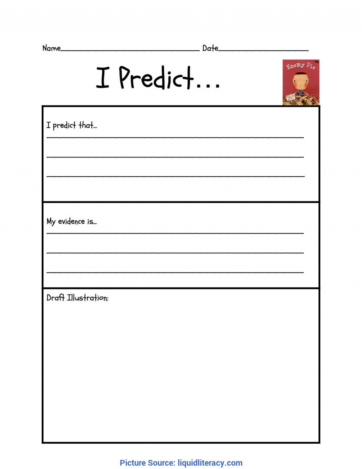 simple 3rd grade lesson plan making predictions predicting enemy pie liquid lite 692