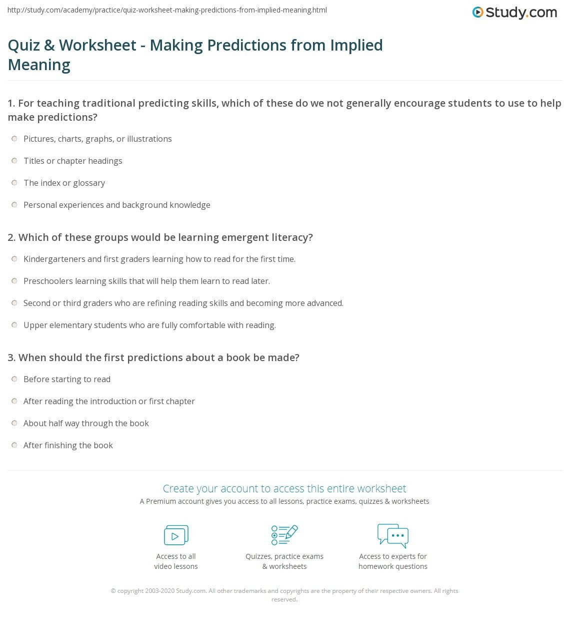 Predictions Worksheets 1st Grade Make Predictions Worksheet