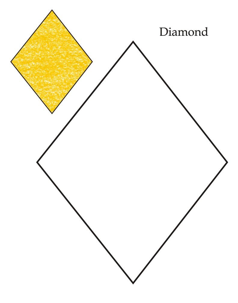 Preschool Diamond Shape Worksheets Shapes and Objects Diamonding Sheet Extraordinary Level Page