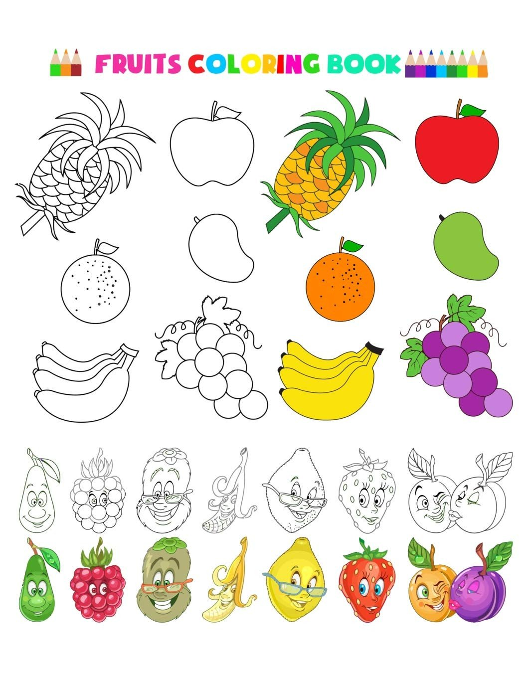 Preschool Fruits and Vegetables Worksheets Buy Fruitsloring Book and Ve Ables Baby Activity Krvy5i L