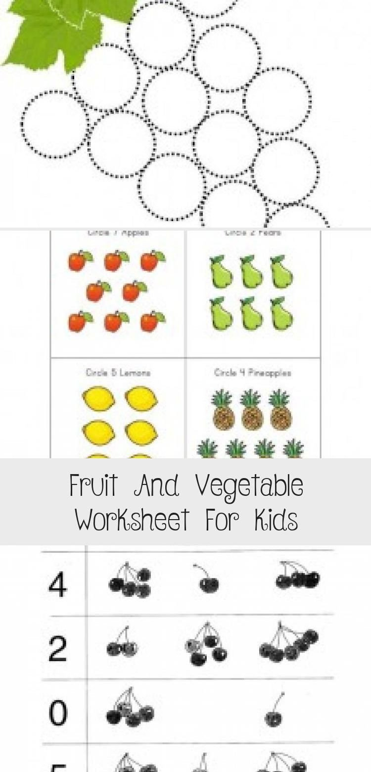 Preschool Fruits and Vegetables Worksheets Fruit and Ve Able Worksheet for Kids In 2020 with Images