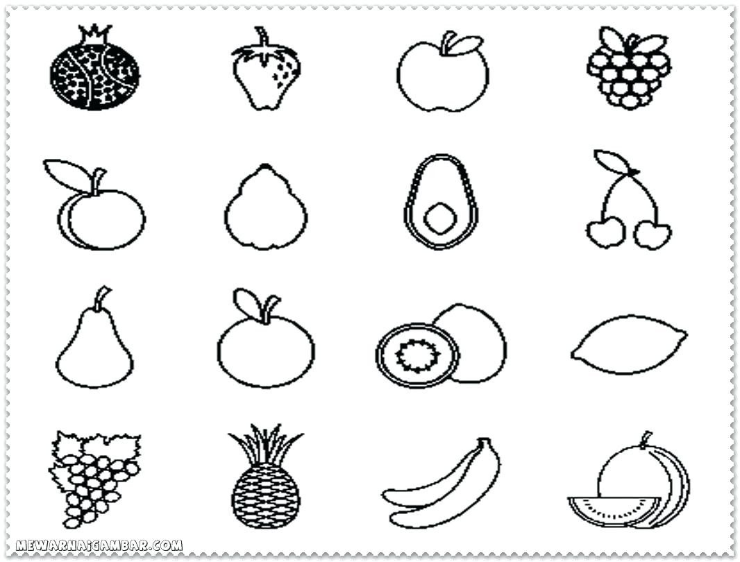Preschool Fruits and Vegetables Worksheets Printable Coloringts and Ve Ables Clip Art Pics Black