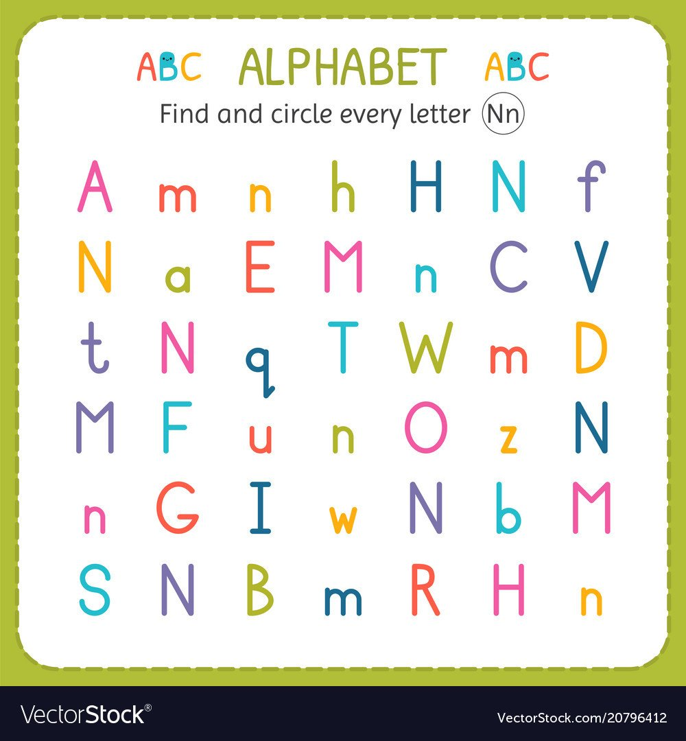 Preschool Letter N Worksheets Find and Circle Every Letter N Worksheet for