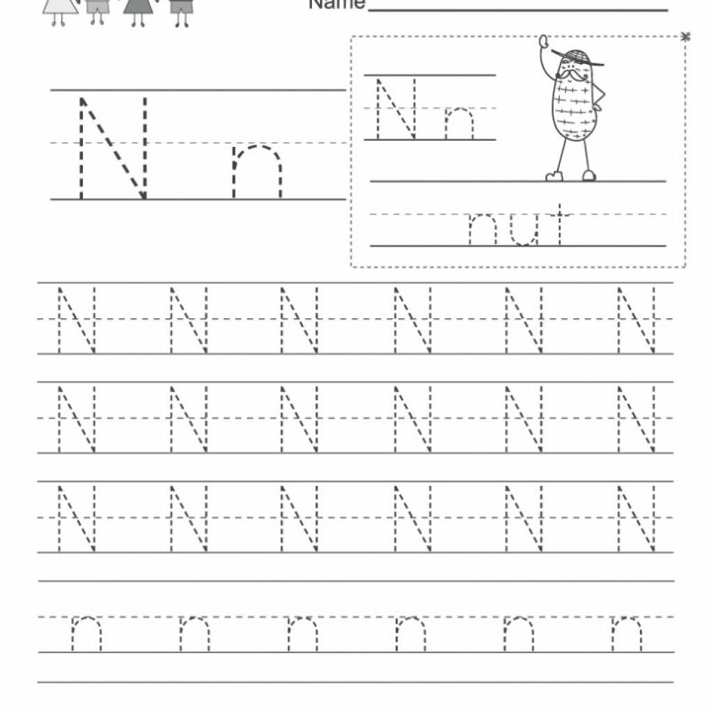 letter n worksheets to learning