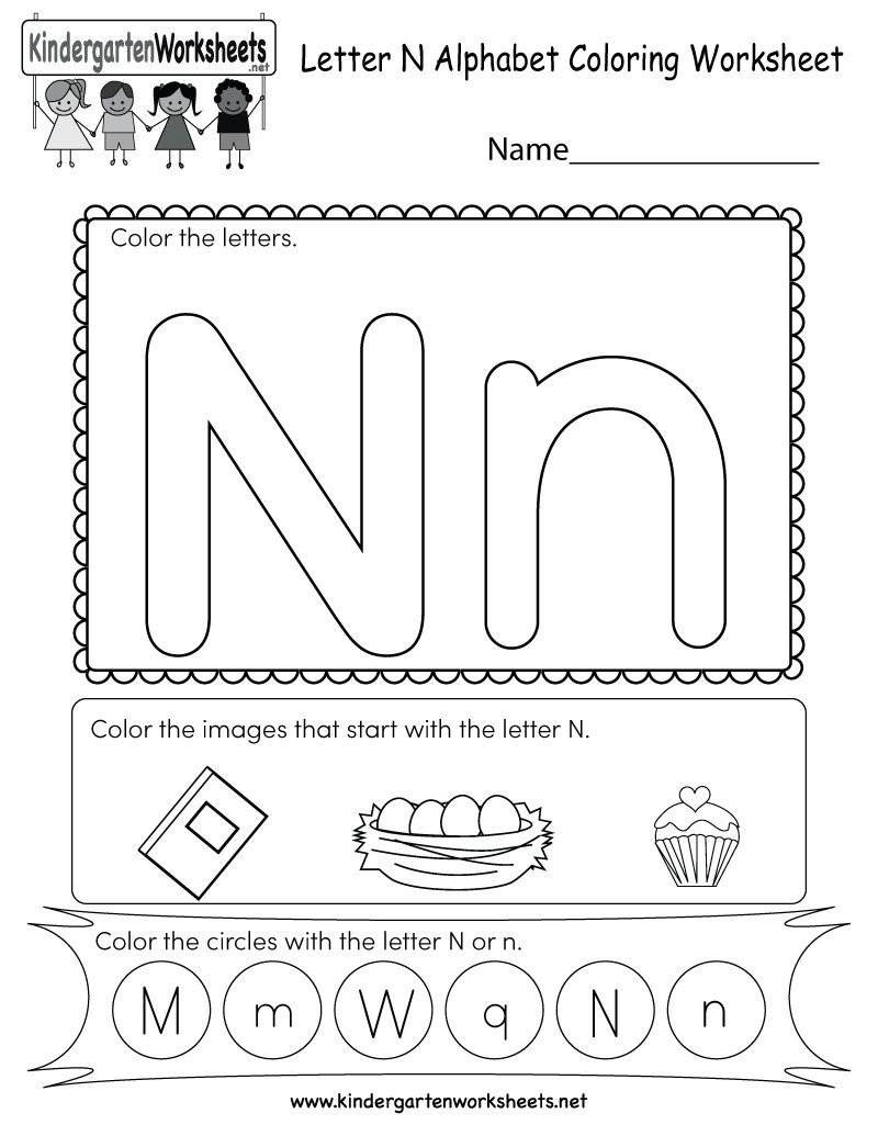 Preschool Letter N Worksheets Letter N Worksheets for Print Letter N Worksheets