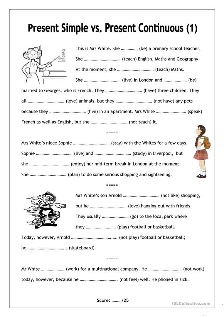 Present Progressive Worksheet English Esl Present Continuous Worksheets Most Ed