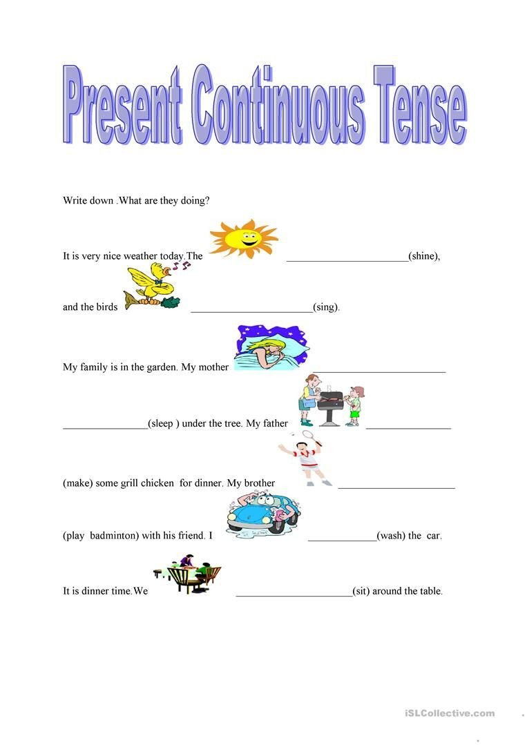 Present Progressive Worksheet Worksheet Present Progressive Worksheet Grass Fedjp
