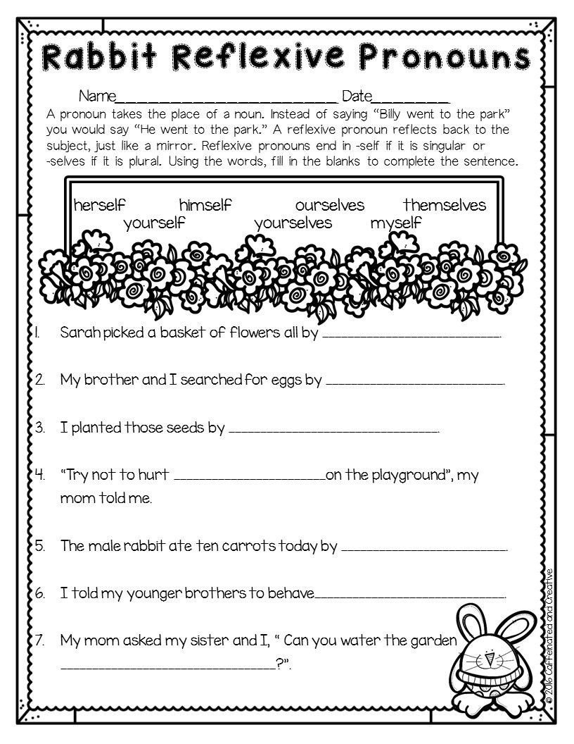 Pronoun Worksheet for 2nd Grade Spring Into Spring