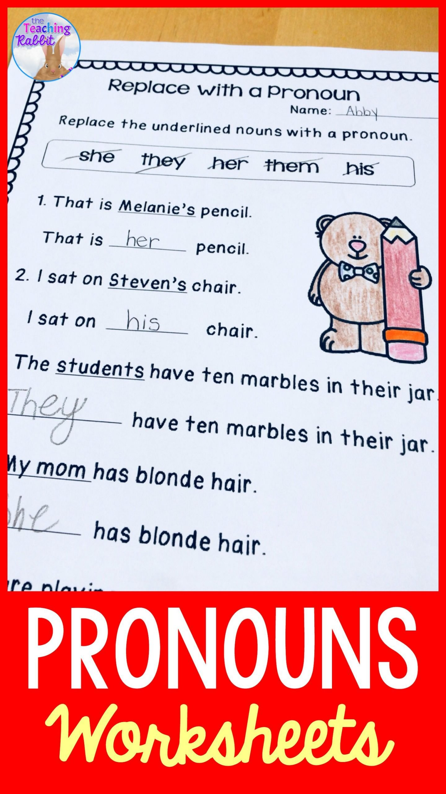 Pronoun Worksheet for 2nd Grade these Pronouns Activity Worksheets are Best for Second Grade