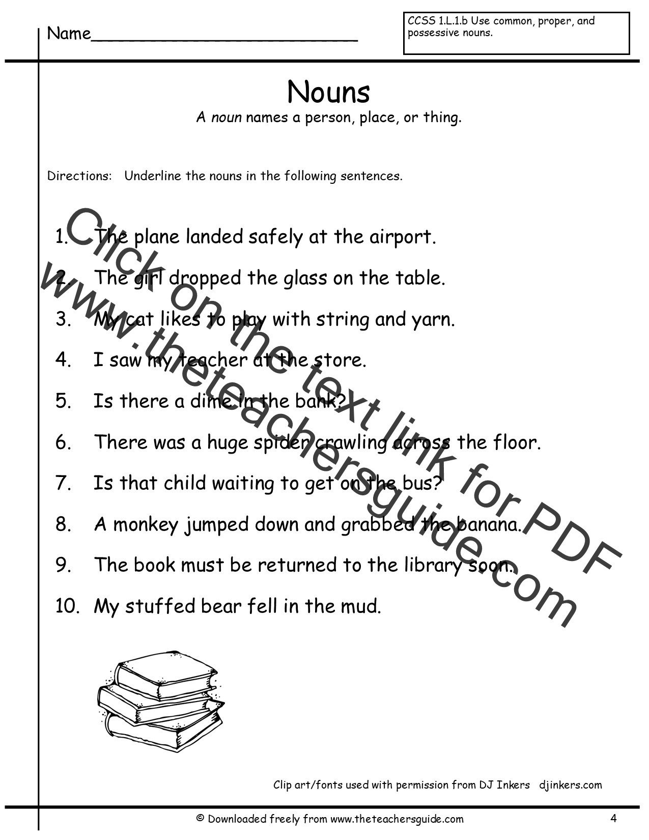 Proper Nouns Worksheet 2nd Grade Noun Sheets