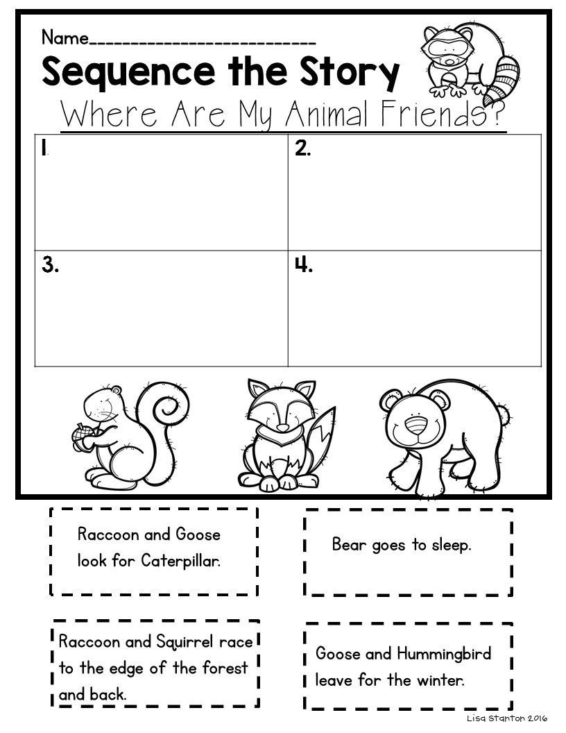 "Read and Sequence Worksheets Free Sequencing Activity for the Story ""where are My Animal"