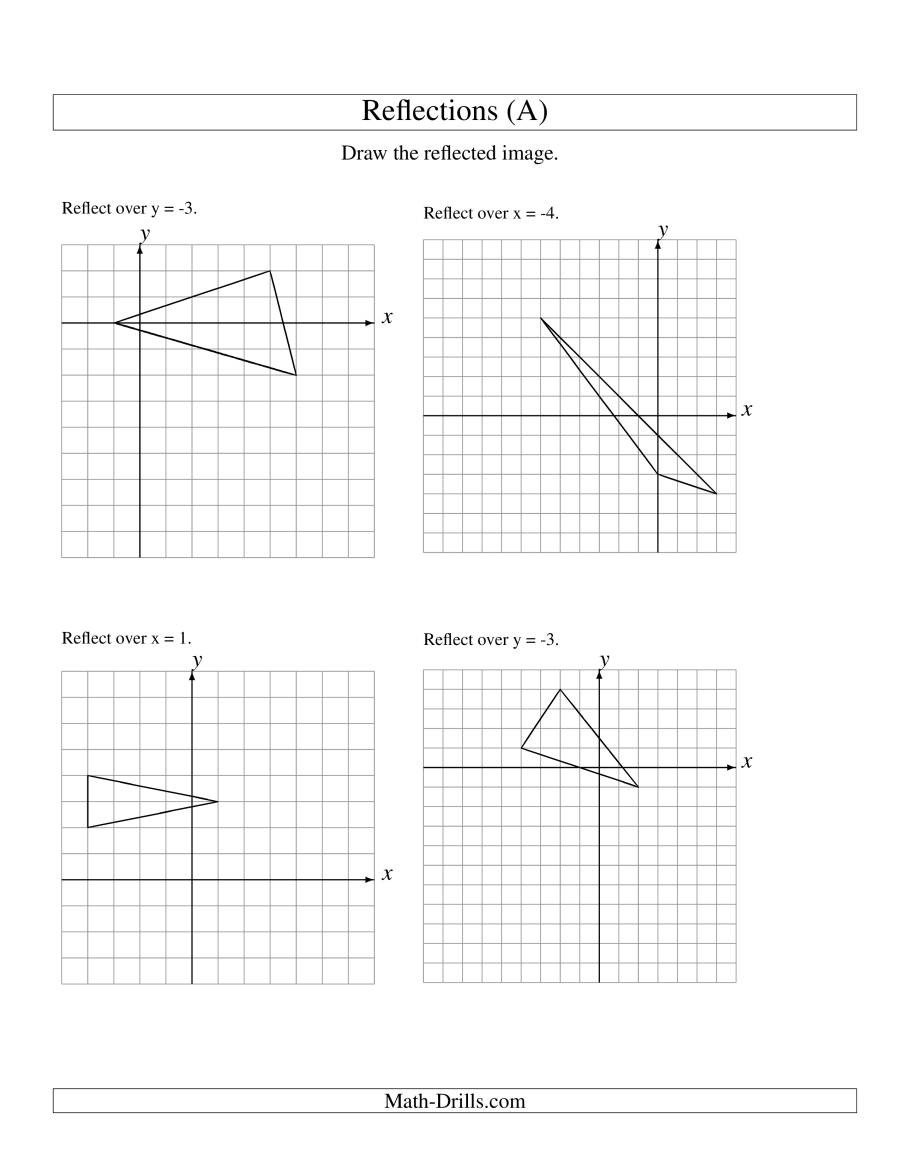 Reflection of 3 Vertices Over Various Lines A