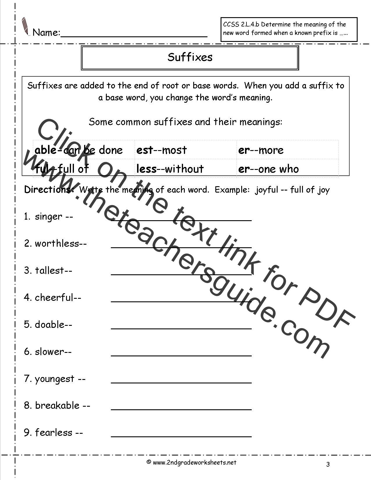 Root Words Worksheet 2nd Grade Second Grade Prefixes Worksheets