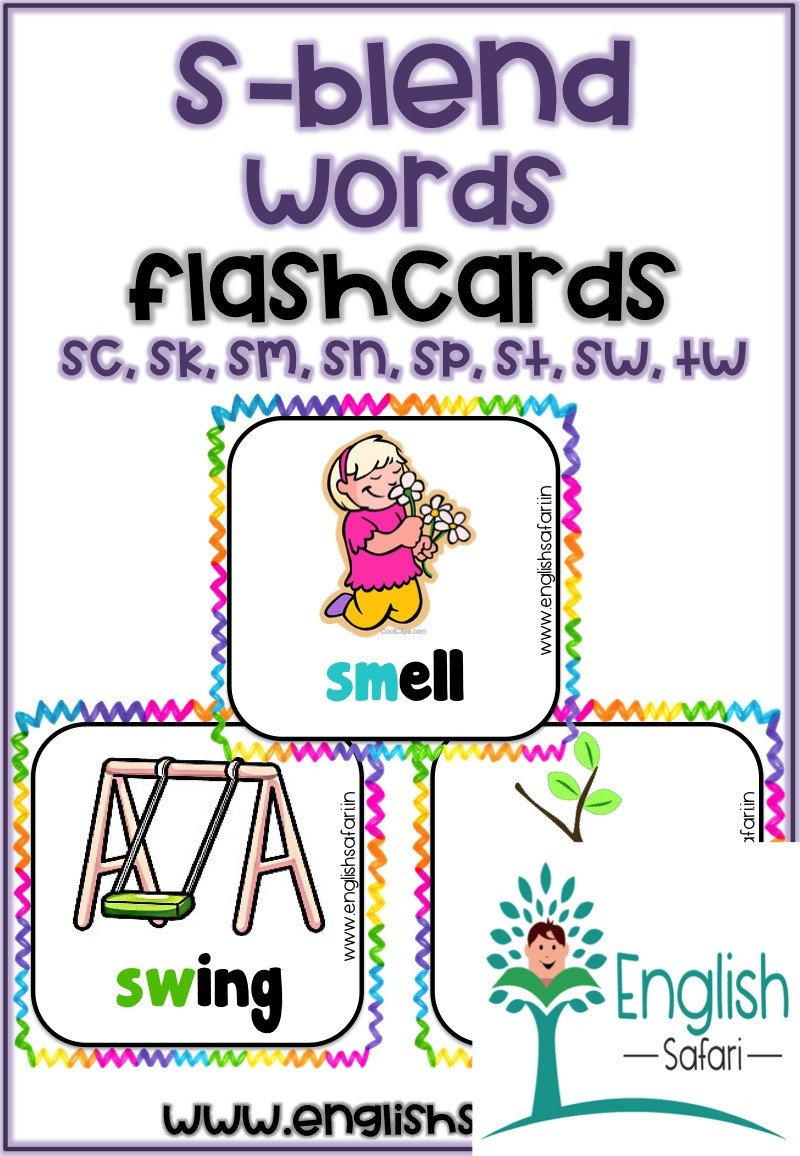 S Blend Worksheets S Blend Words with Pictures Free