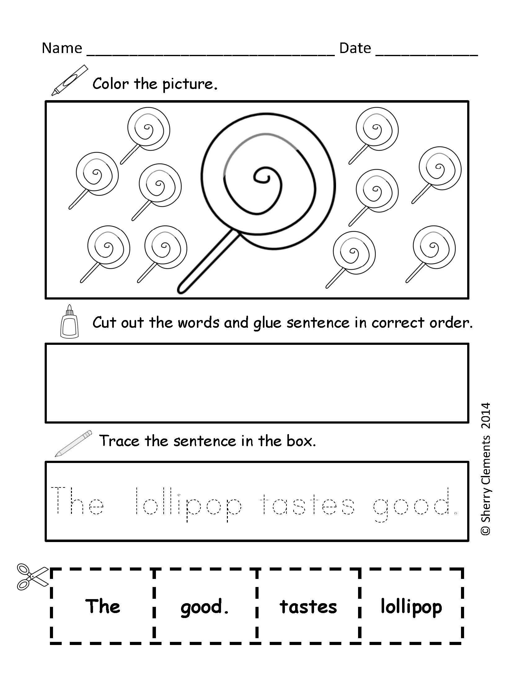 Scrambled Sentences Worksheets 2nd Grade Scrambled Sentences February