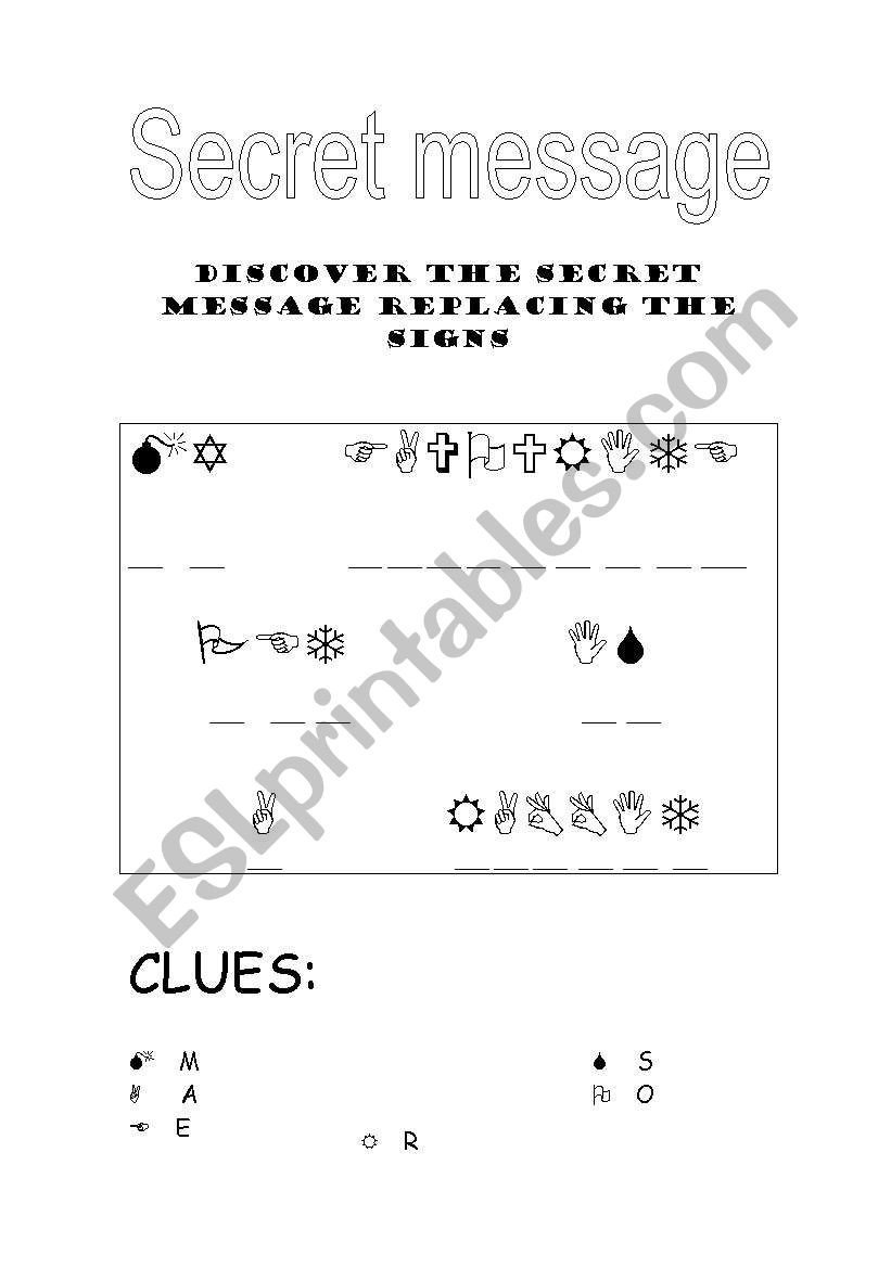 Secret Message Worksheets English Worksheets Secret Message