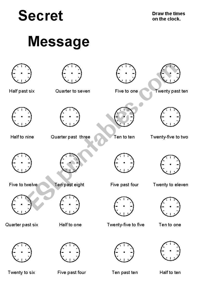 Secret Message Worksheets Secret Message Esl Worksheet by Lilaclake