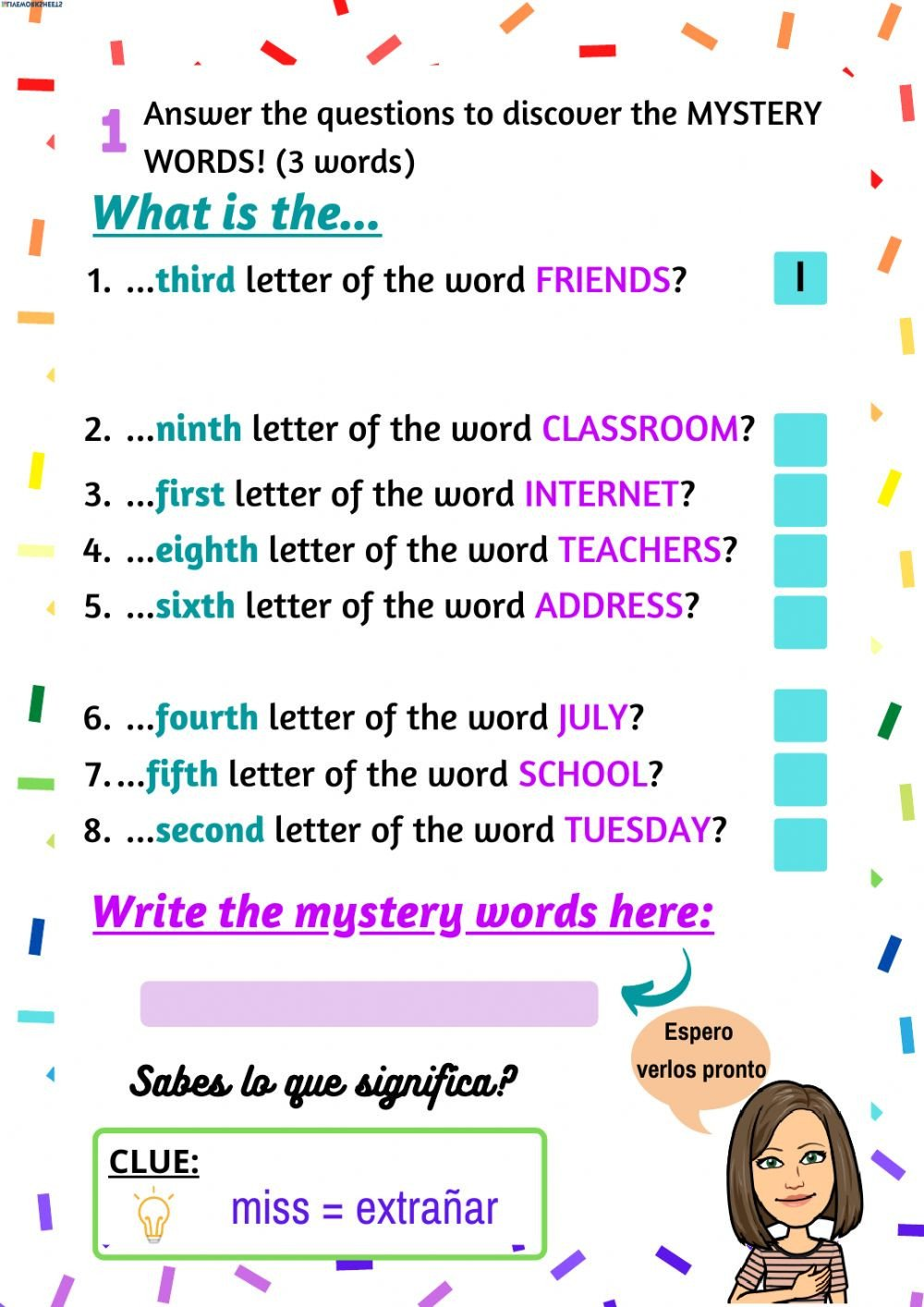 Secret Message Worksheets Secret Message Interactive Worksheet