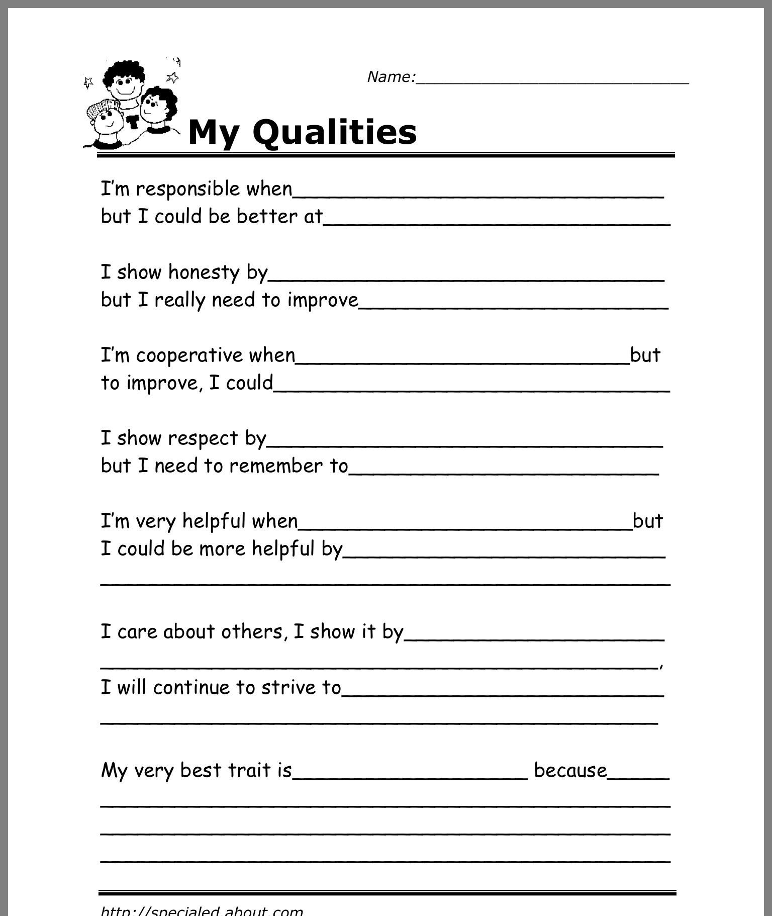 Self Esteem Worksheets for Children Pin by Aparna Jayaraaj On Group Counseling Games