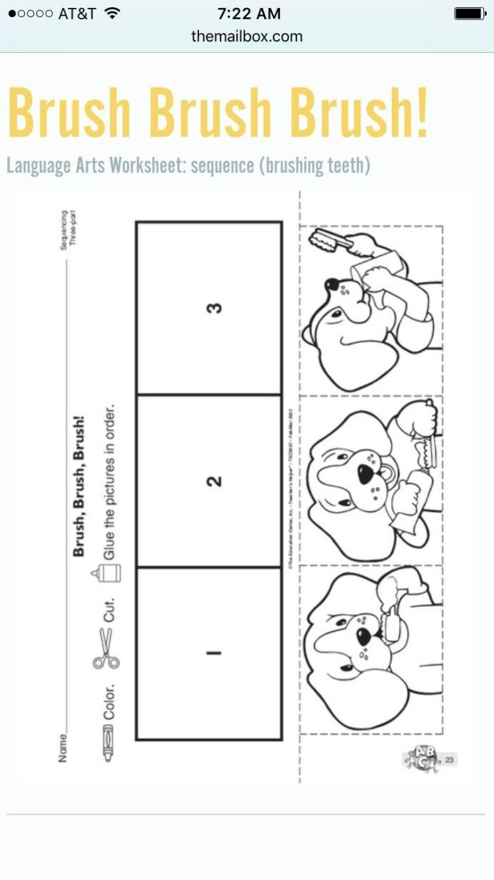 Sequence Worksheets for Kids to Brush Your Teeth Sequencing Kindergarten Worksheets Free