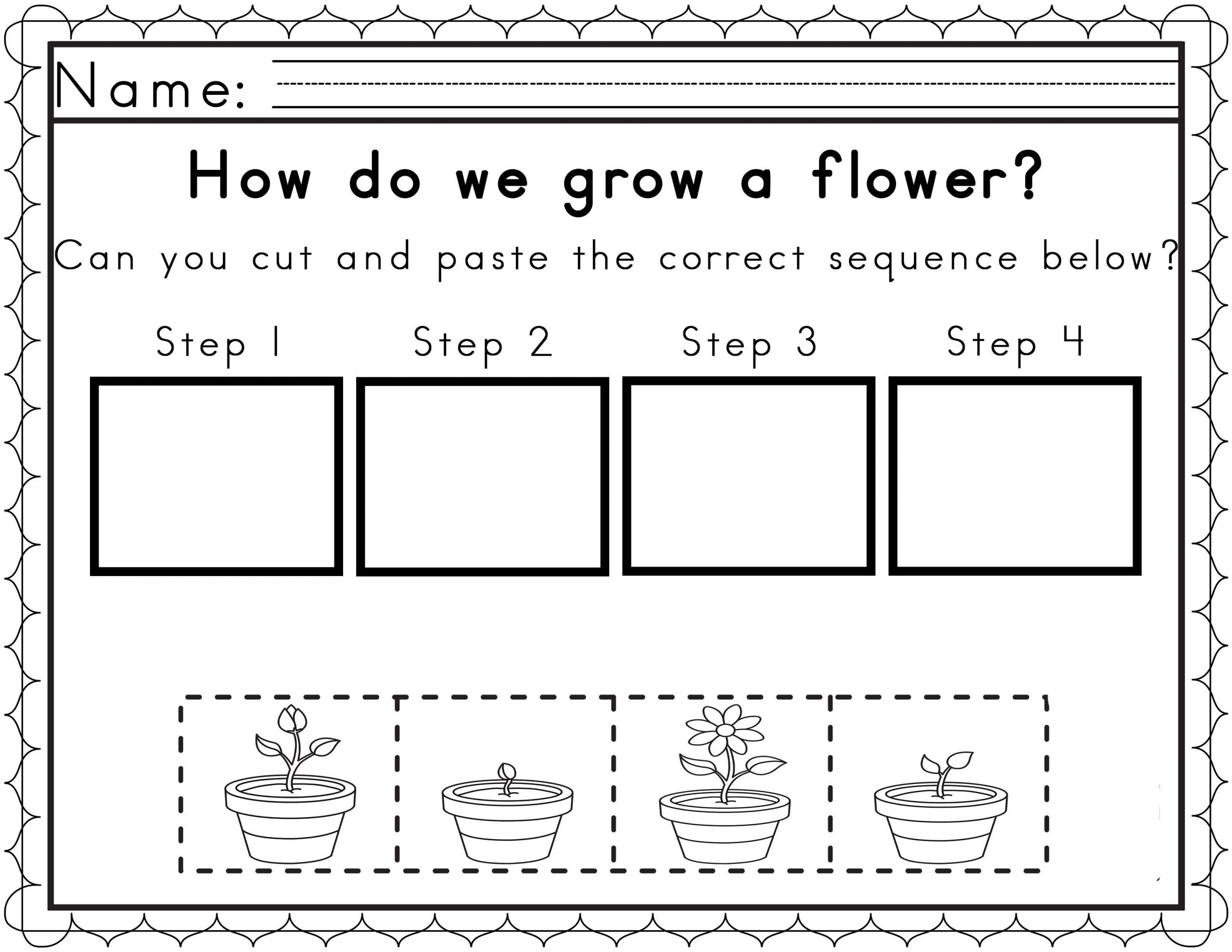 Sequence Worksheets for Kindergarten Worksheets for Sequencing In Spring