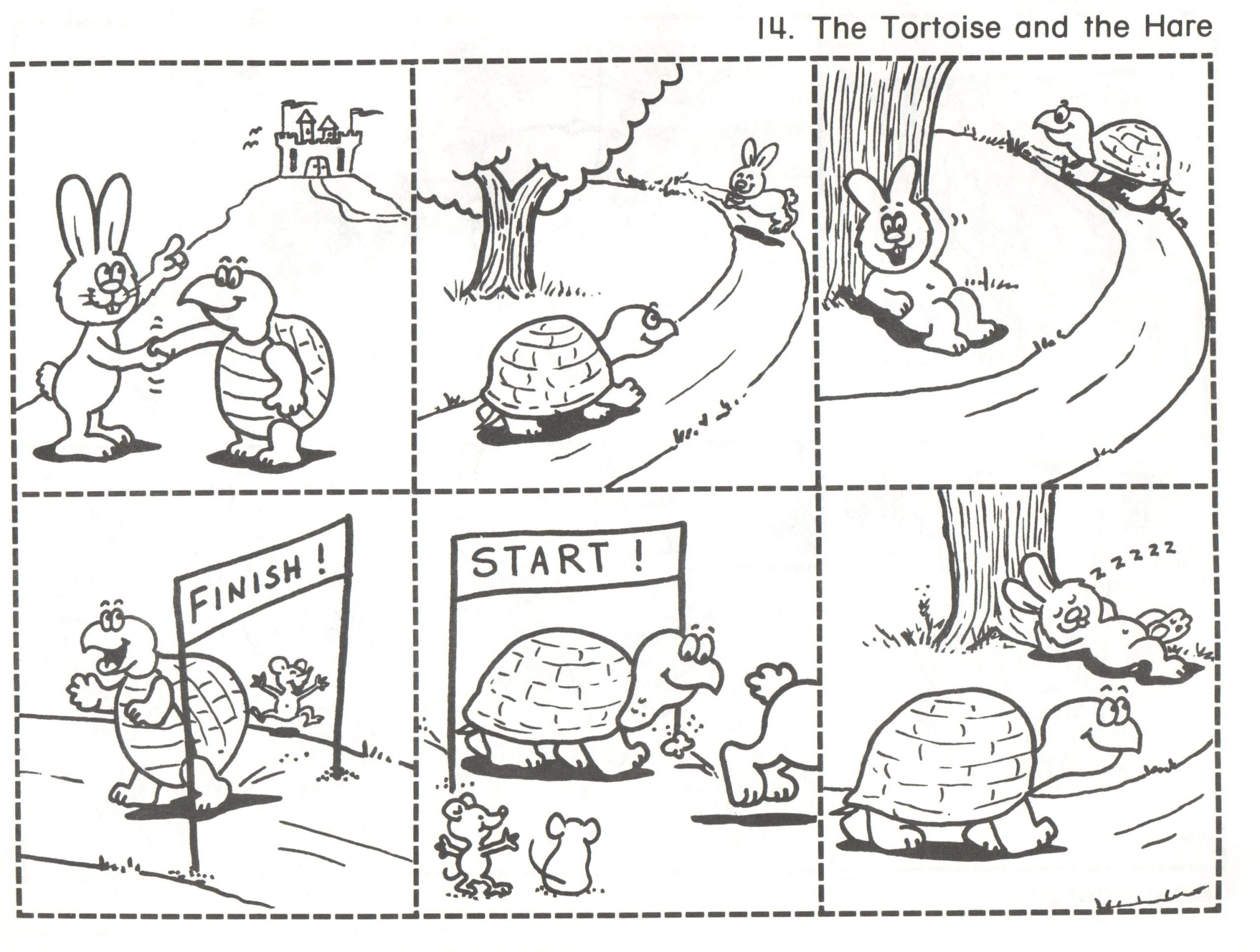 tortoise and hare sequencing pictures fairy tales events worksheets for grade scaled