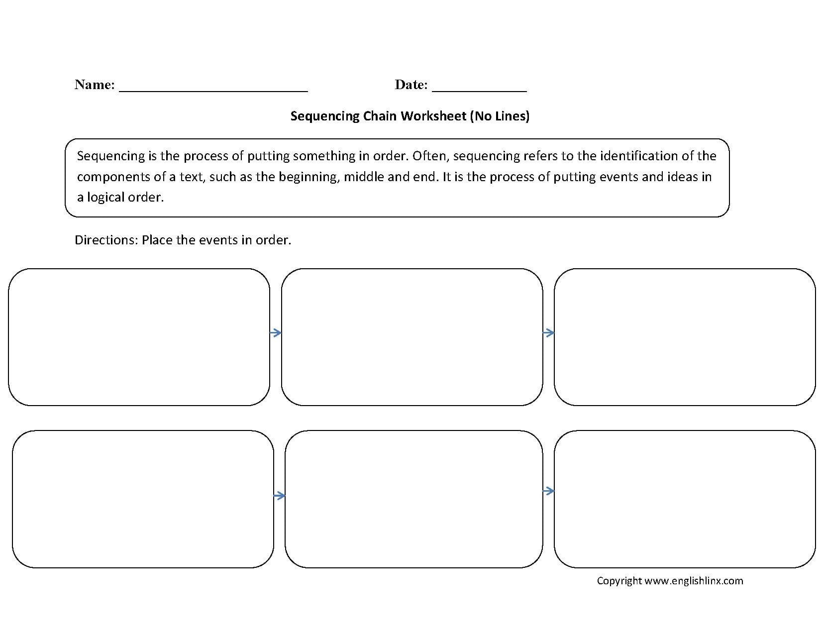 writing worksheets sequencing worksheets