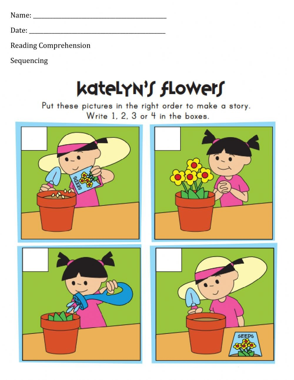 Sequencing Picture Worksheets Sequencing Worksheet 3 Interactive Worksheet