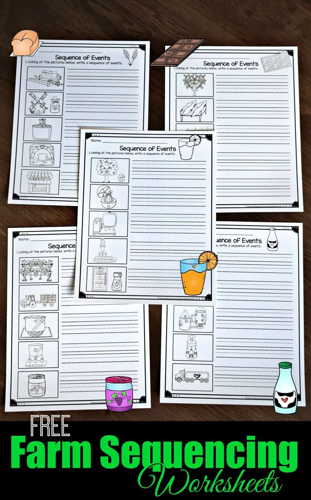 Sequencing Pictures Worksheet Free Farm Sequencing Worksheets