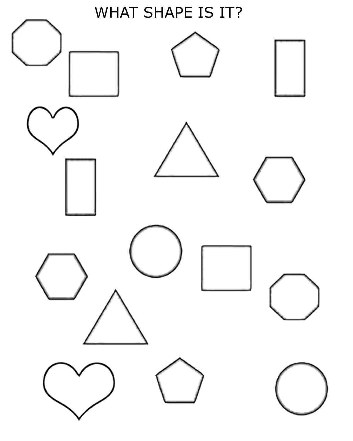 worksheet 2d shapes 1st 2nd grade