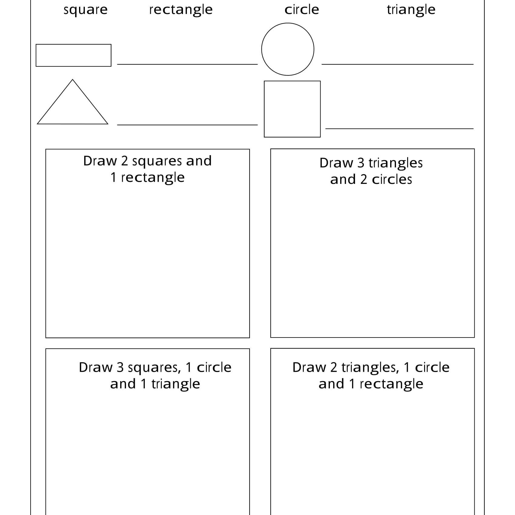Shapes Worksheets 1st Grade Geometry Worksheets for Students In 1st Grade