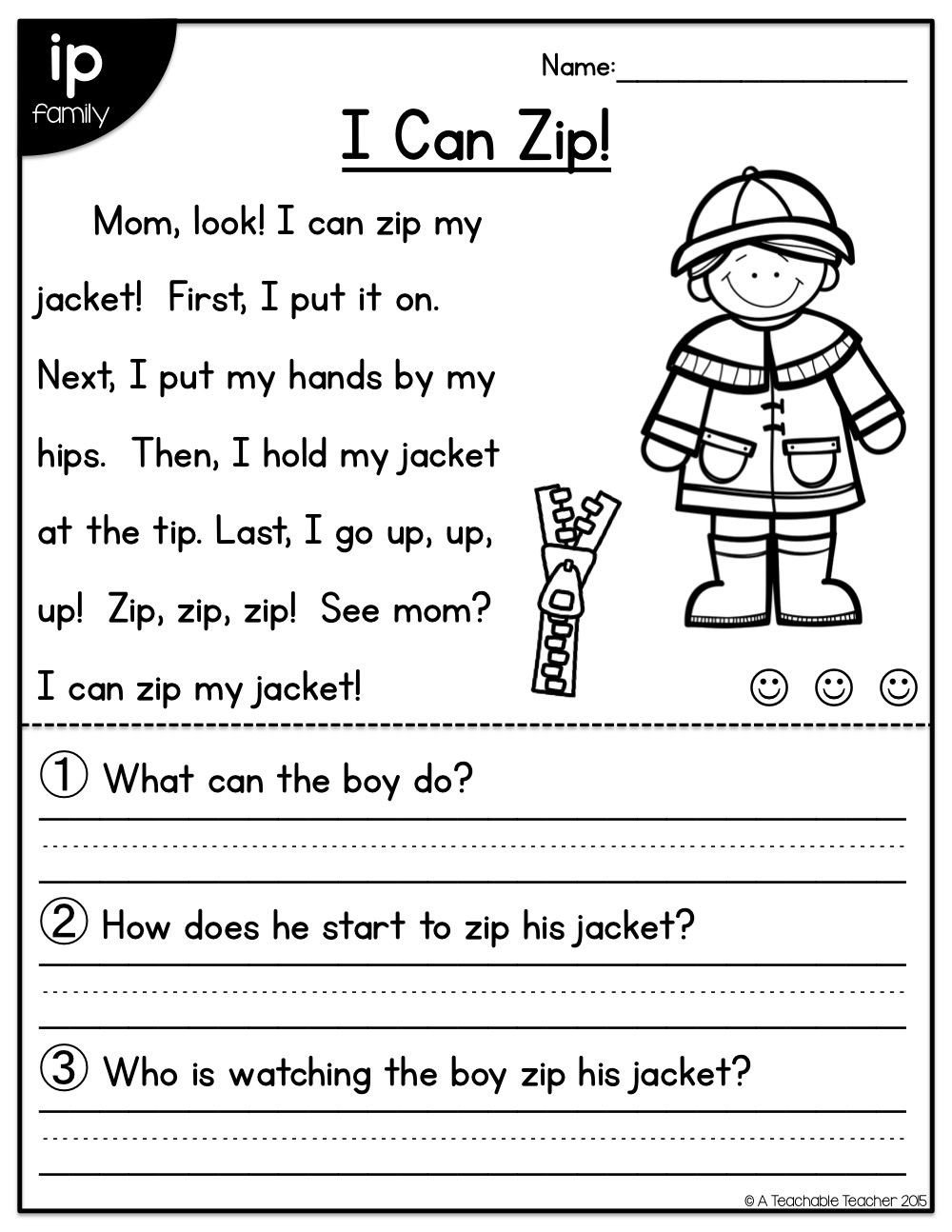 Short A Worksheet First Grade Short Vowel Reading Prehension Passages Perfect for