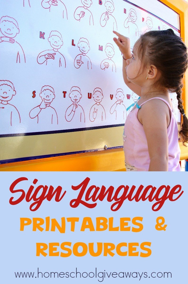 Sign Language Worksheets for Kids Free Sign Language Printables and Resources Homeschool