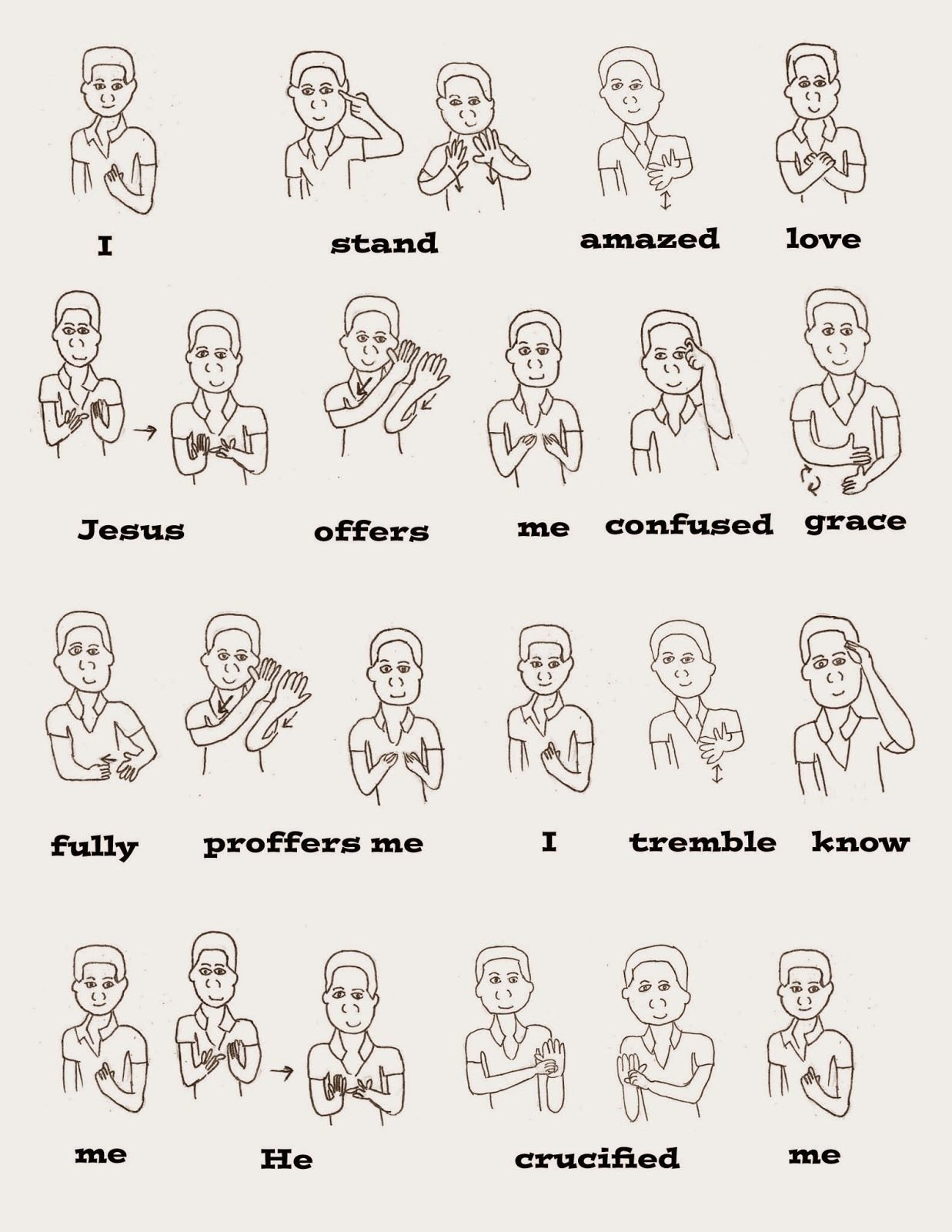 Sign Language Worksheets for Kids I Stand All Amazed with asl