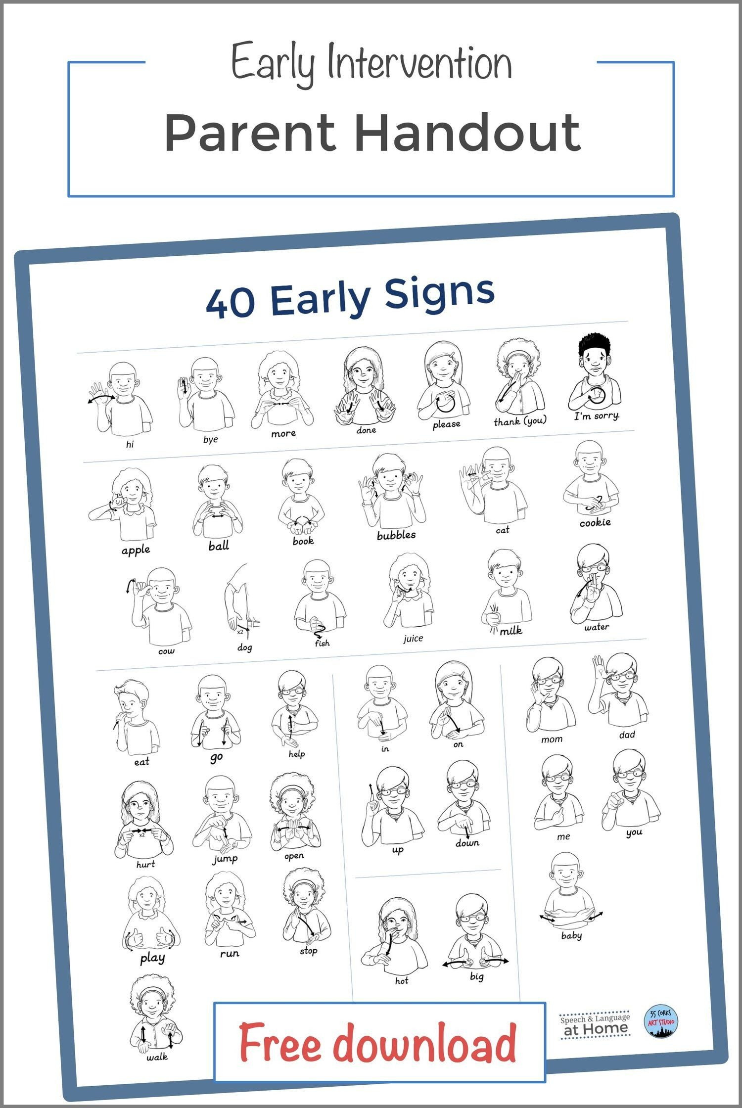 Sign Language Worksheets for Kids Worksheet Sign Language toddlers