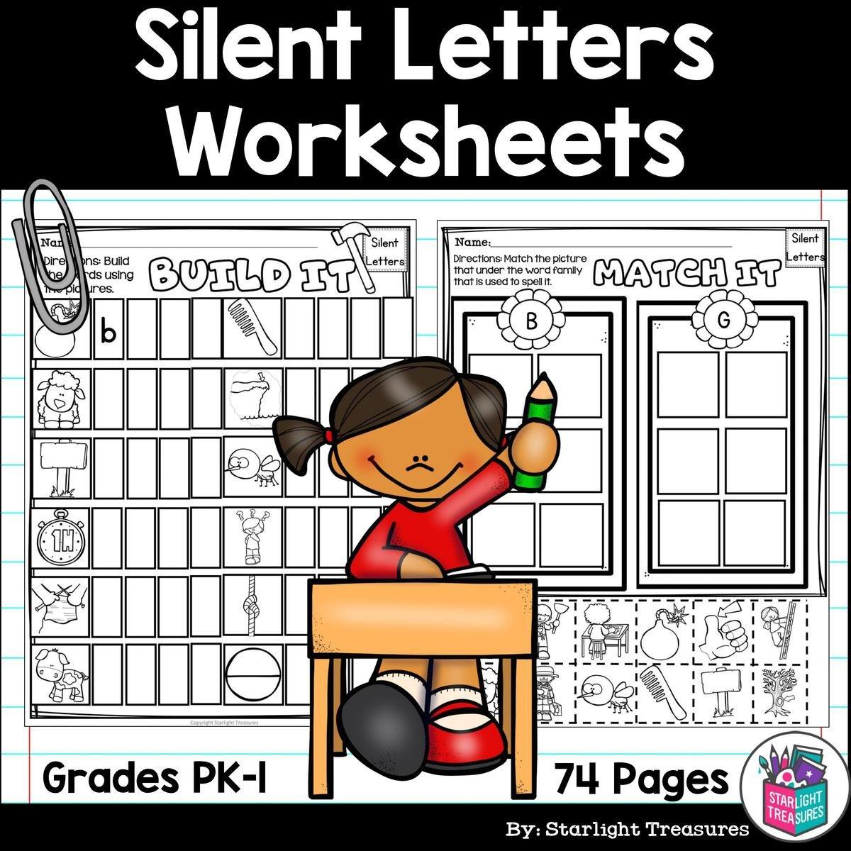 Silent Letters Worksheets Silent Letters Worksheets and Activities for Early Readers Phonics