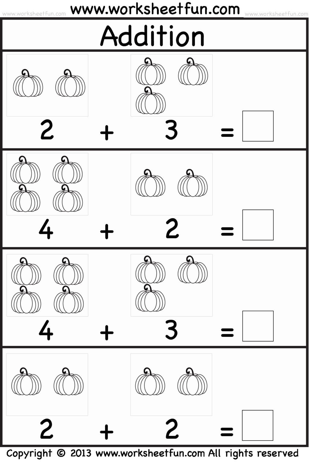 Simple Addition Worksheets for Kindergarten Math Worksheet Kindergarten Math Worksheets